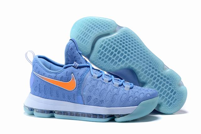 Nike KD 9 Shoes Sky Blue Orange